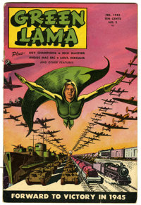 Green Lama #2 (Spark Publications, 1945) Condition: VG+. Mac Raboy cover and art. Overstreet 2006 VG 4.0 value = $154. F...