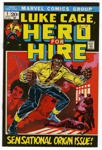Hero for Hire #1 (Marvel, 1972) Condition: VF. Origin and first appearance of Luke Cage. First appearance of Diamondback...