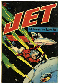 "Jet Powers #1 Davis Crippen (""D"" Copy) pedigree (Magazine Enterprises, 1950) Condition: VG+. Bob Powell cover..."