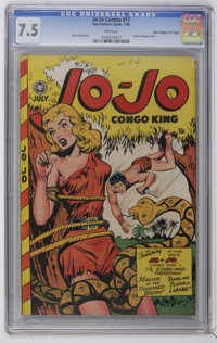 "Jo-Jo Comics #17 Davis Crippen (""D"" Copy) pedigree (Fox Features Syndicate, 1948) CGC VF- 7.5 Pink pages. Clas..."
