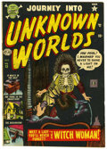 "Golden Age (1938-1955):Horror, Journey Into Unknown Worlds #13 Davis Crippen (""D"" Copy) pedigree(Atlas, 1952) Condition: VG+. Overstreet 2006 VG 4.0 value..."
