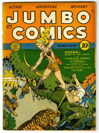 Jumbo Comics #26 (Fiction House, 1941) Condition: FN/VF. Bob Powell art. Nice cover gloss. Overstreet 2006 FN 6.0 value...