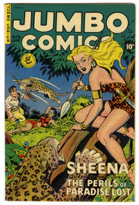 Jumbo Comics #136 Mile High pedigree (Fiction House, 1950) Condition: NM. Jack Kamen art. Overstreet 2006 NM- 9.2 value...