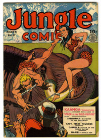 Jungle Comics #27 (Fiction House, 1942) Condition: VF-. New origin for Fantomah, Daughter of the Pharaohs; new costume f...