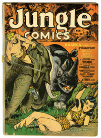 "Jungle Comics #38 Davis Crippen (""D"" Copy) pedigree (Fiction House, 1943) Condition: GD+. George Tuska and Nic..."