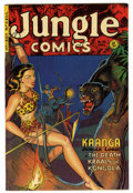 Golden Age (1938-1955):Adventure, Jungle Comics #136 Mile High pedigree (Fiction House, 1951) Condition: NM-. Overstreet 2006 NM- 9.2 value = $185. From the...