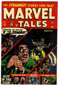"Golden Age (1938-1955):Horror, Marvel Tales #114 Davis Crippen (""D"" Copy) pedigree (Atlas, 1953)Condition: FN/VF. Bill Everett cover art. Jim Mooney and G..."