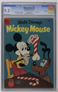 Golden Age (1938-1955):Cartoon Character, Mickey Mouse #39 File Copy (Dell, 1954) CGC NM- 9.2 Off-white towhite pages. Pluto appearance. Paul Murry cover and art. Ov...
