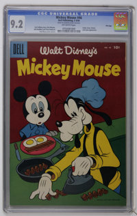 Mickey Mouse #46 File Copy (Dell, 1956) CGC NM- 9.2 Off-white pages. Appearances by Goofy and Huey, Dewey, and Louie. Pa...