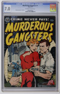 """Golden Age (1938-1955):Crime, Murderous Gangsters #1 (Avon, 1951) CGC FN/VF 7.0 Off-white to white pages. Pretty Boy Floyd and """"Legs"""" Diamond stories. Wal..."""