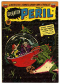 """Golden Age (1938-1955):Science Fiction, Operation Peril #9 Davis Crippen (""""D"""" Copy) pedigree (ACG, 1952)Condition: FN. Sci-fi cover by Ogden Whitney. Overstreet 20..."""