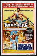 "Movie Posters:Adventure, Hercules/Hercules Unchained Combo (Warner Brothers, R-1973). OneSheet (27"" X 41""). Adventure. ..."