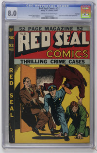 Red Seal Comics #21 Big Apple pedigree (Chesler, 1947) CGC VF 8.0 Cream to off-white pages. Lady Satan and Black Dwarf a...
