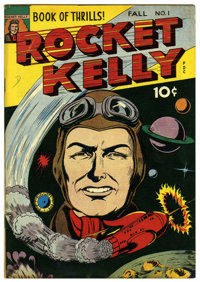 "Rocket Kelly #1 Davis Crippen (""D"" Copy) pedigree (Fox Features Syndicate, 1944) Condition: VF-. Some siamese..."