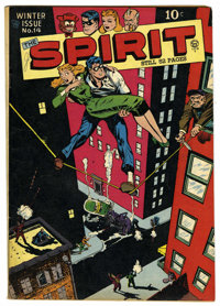 The Spirit #14 (Quality, 1948) Condition: FN. Will Eisner cover. Overstreet 2006 FN 6.0 value = $108. From the John McLa...