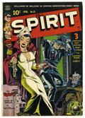 Golden Age (1938-1955):Crime, The Spirit #20 (Quality, 1950) Condition: FN-. Will Eisner cover. Overstreet 2006 FN 6.0 value = $120. From the John McLau...