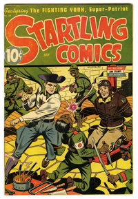 Startling Comics #34 (Better Publications, 1945) Condition: FN/VF. Alex Schomburg cover. Origin and only appearance of t...
