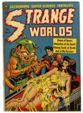 Golden Age (1938-1955):Horror, Strange Worlds #5 (Avon, 1951) Condition: VG. Wally Wood cover.Wood and Joe Orlando art. Overstreet 2006 VG 4.0 value = $12...