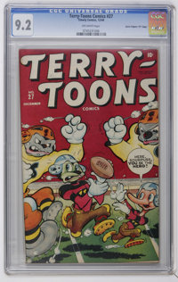 "Terry-Toons Comics #27 Davis Crippen (""D"" Copy) pedigree (Timely, 1944) CGC NM- 9.2 Off-white pages. Funny ani..."
