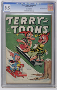 """Terry-Toons Comics #30 Davis Crippen (""""D"""" Copy) pedigree (Timely, 1945) CGC VF+ 8.5 Off-white pages. Funny ani..."""