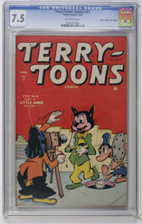 """Terry-Toons Comics #31 Davis Crippen (""""D"""" Copy) pedigree (Timely, 1945) CGC VF- 7.5 Off-white pages. Funny ani..."""