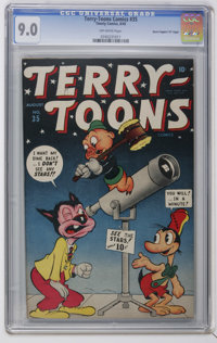 "Terry-Toons Comics #35 Davis Crippen (""D"" Copy) pedigree (Timely, 1945) CGC VF/NM 9.0 Off-white pages. Only co..."