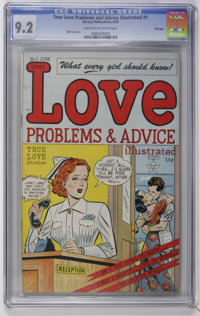 True Love Problems #1 File Copy (Harvey, 1949) CGC NM- 9.2 Cream to off-white pages. Bob Powell art. Overstreet 2006 NM-...