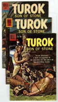Silver Age (1956-1969):Adventure, Turok #17, 26 and 28 Group (Dell, 1959-62) Condition: Average VF. Silver Age group of three includes #17, which featured a p... (Total: 3 Comic Books)