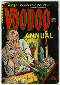 Voodoo Annual #1 (Farrell, 1952) Condition: GD/VG. Matt Baker art. Overstreet calls this book scarce. Overstreet 2006 GD...