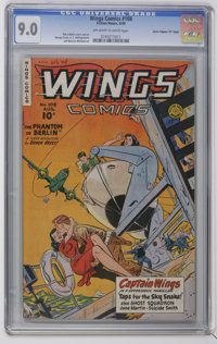"Wings Comics #108 Davis Crippen (""D"" Copy) pedigree (Fiction House, 1949) CGC VF/NM 9.0 Off-white to white pag..."
