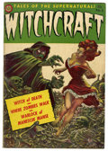 Golden Age (1938-1955):Horror, Witchcraft #5 (Avon, 1953) Condition: VG-. Frank Kelly Freaspainted cover. Overstreet 2006 VG 4.0 value = $102. From the...