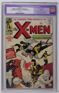 X-Men #1 (Marvel, 1963) CGC Apparent VG/FN 5.0 Slight (A) Off-white pages. Origin and first appearance of the X-Men (the...