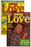 """Golden Age (1938-1955):Romance, Young Love #48 and 50 Group Davis Crippen (""""D"""" Copy) pedigree (Prize, 1949) Condition: Average FN. Contained here are issues... (Total: 2 Comic Books)"""