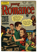 """Golden Age (1938-1955):Romance, Young Romance Comics #8 Davis Crippen (""""D"""" Copy) pedigree (Prize,1948) Condition: FN/VF. Joe Simon and Jack Kirby cover and..."""