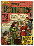 """Golden Age (1938-1955):Romance, Young Romance Comics #9 Davis Crippen (""""D"""" Copy) pedigree (Prize,1949) Condition: VG. Joe Simon and Jack Kirby cover and ar..."""