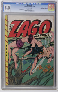 "Zago #2 Davis Crippen (""D"" Copy) pedigree (Fox Features Syndicate, 1948) CGC VF 8.0 Off-white pages. Jack Kame..."