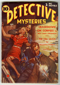Detective Mysteries V1#1 (Western Fiction, 1938) Condition: FN. Bookery's Guide to Pulps FN 6.0 value = $100. From the J...