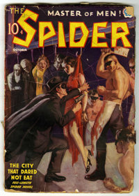 The Spider - October, 1937 (Popular, 1937) Condition: GD. Bookery's Guide to Pulps GD 2.0 value = $50. From the Madison...