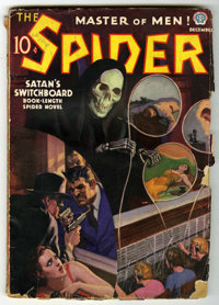 The Spider - December, 1937 (Popular, 1937) Condition: GD. Bookery's Guide to Pulps GD 2.0 value = $50. From the Madison...