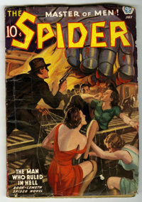 The Spider - July, 1937 (Popular, 1937) Condition: VG-. Bookery's Guide to Pulps VG 4.0 value = $100. From the Madison M...