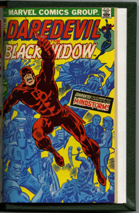 Daredevil #81-100 Bound Volume (Marvel, 1971-73). Includes copies of issues 81 (52 pages, Black Widow begins as a suppor...