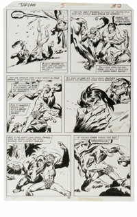 John Buscema - Tarzan #5, page 30 Original Art (Marvel, 1977). Tarzan comes to life in this action-packed page, which fe...