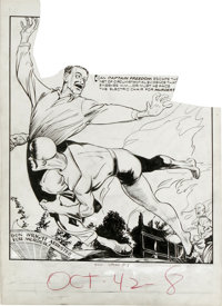 Arturo Cazeneuve (attributed) - Speed Comics #23 Captain Freedom Page Original Art, Group of 2 (Harvey, 1942). Adolph Sh...