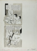 "Original Comic Art:Complete Story, Mort Drucker - Mad #87 Complete 6-page Story ""Kids' Versions of Adult Films"" Original Art (EC, 1964). Mort Drucker's art lam..."