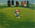 "Animation Art:Limited Edition Cel, ""Golfing Fool"" Limited Edition Hand Painted Cel #89/100 OriginalArt (Walter Lantz Productions, 1992). Recreated from origin...(Total: 2 Items)"