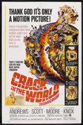 "Movie Posters:Science Fiction, Crack in the World (Paramount, 1965). One Sheet (27"" X 41"").Science Fiction. ..."