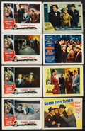 "Movie Posters:Crime, Crime Lot (Various, 1939-1955). Lobby Cards (8) (11"" X 14"").Crime.... (Total: 8 Items)"