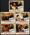 """Movie Posters:Drama, Criminal Lawyer (Columbia, 1951). Lobby Cards (5) (11"""" X 14"""").Drama. ... (Total: 5 Items)"""