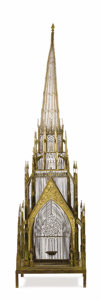 Decorative Arts, British:Other , A Bird Palace. John Buford, English. 19th century. Glass, metal.Unmarked. 100 inches high x 25 inches wide x 25 inches de...