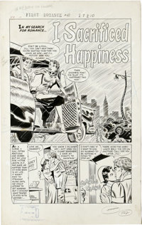 "John Sink - First Romance Magazine #40 Complete 5-page Story ""I Sacrificed Happiness"" Original Art (Harvey, 19..."